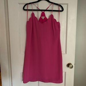 J. Crew Pink Scalloped Dress
